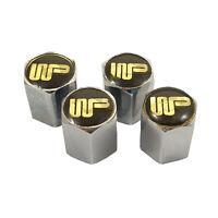 Set of 4 With Wood & Pickett Logo Tyre Valve Caps