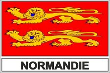 Autocollant sticker drapeau  normandie normand