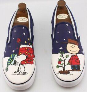 Vans x Peanuts UK 10 Charlie Brown Snoopy Christmas Skateboard Rare Present Gift
