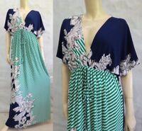 New Women's Green Gypsy Kimono Party Long Maxi Dress  Size XL XXL 3XL 16 18 20