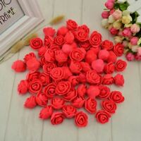 50 pcs PE Foam fake flower roses head artificial flowers cheap wedding decoratio