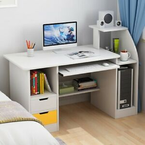 Office Computer Desk Study PC Writing Gaming Table Home Workstation Shelf Small