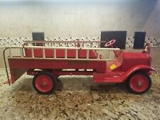 Antique 1920s Keystone Heavy Pressed Steel Packard  Fire Truck w/ Ladders