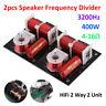 2pcs 2 Way 2 Unit Hi-Fi Speaker Frequency Divider Crossover Soundshelf Filters