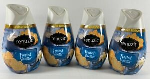 Lot 4 NEW LIMITED EDITION Renuzit Solid Gel Air Freshener FROSTED VANILLA 7oz ea
