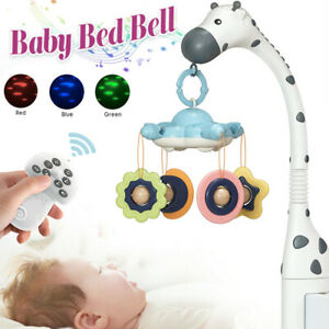 Baby Musical Bed Bell Kid Crib Mobile Cot Music Box Rattle Toy Light Nursery New