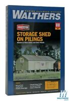 Walthers 933-3529 Storage Shed on Pilings Kit HO Scale Train