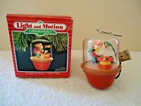 "Vintage 1988 Hallmark Keepsake Light And Motion Ornament "" On With The Show """