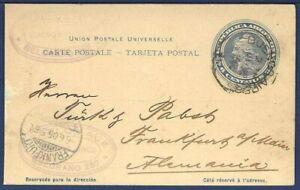 ARGENTINA Postal Card UPU Tarjeta Postal Buenos Aires to Frankfurt, Germany 1905