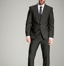 NEXT Tailoring Men`s Grey Charcoal Suit Jacket 42 Long Regular Fit
