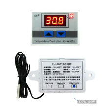 AC 220V Digital LED Temperature Controller 10A Thermostat Control Switch +Probe