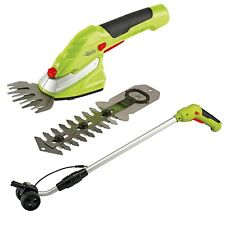 Garden Gear Cordless Trimming Shears 7.2v Handle Hedge Grass Edging Tool Set New