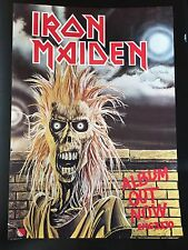 "IRON MAIDEN - ""1st LP 1980 Promo Poster (RARE)  EMI RECORDS promotional display"