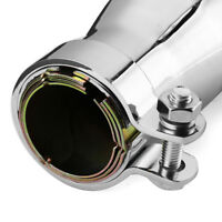Universal Motorcycle Fin Exhaust Muffler Pipe Silencer For Chopper Cafe Racer