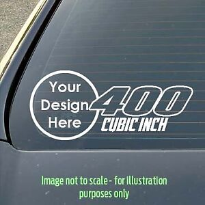 Custom 150mm 400 cubic inch V8 Holden/Ford/Chev/Chrysler car/toolbox decal