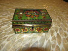VINTAGE CZECHOSLOVAKIA METAL TIN MONEY COIN SAFE BOX BANK  TOY