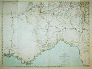 Liguria Genova Torino Italia France Lyon Alps Alexandria Karte map Beaumont 1800