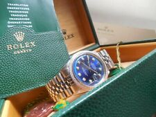 ROLEX DATEJUST 1601 18K GOLD DIAMOND BEZEL NON QUICK SET1570 MOVEMENT BOX PAPER