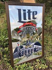 Miller Lite Milwaukee Brewers Mlb Baseball Miller Park Mlb Beer Bar Mirror