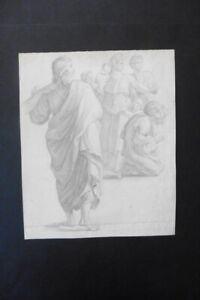 FRENCH SCHOOL 19thC - RELIGIOUS SCENE - FINE PENCIL DRAWING