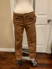 """Top Shop Moto """"Leigh"""" Light Brown Ankle Skinny Jeans, Size W28"""