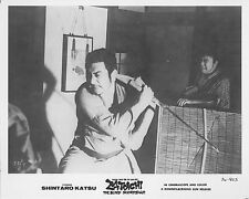 ZATOICHI THE BLIND SWORDSMAN original b/w 1974 lobby still photo SHINTARO KATSU