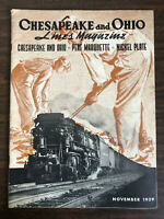November 1939 Chesapeake and Ohio Lines Pere Marquette Nickel Plate Magazine
