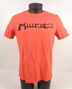 NEW GENUINE Lamborghini Automobili Mens Miura Print Orange T-Shirt S D1 LT17