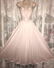 Vtg Light PINK OLGA L XL Elegant Lace Bodice Ballet Nightgown Negligee 92150
