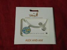 Disney Parks ALEX & ANI bracelet CINDERELLA Have Courage Be Kind Silver tone NEW