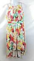 Sangria Women's Lined Gold Chain Sleeveless Dress Size 12 Floral Multi-Color New