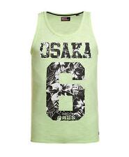 New Mens Superdry Factory Second Osaka 6 Infill Vest Neon Green Slub