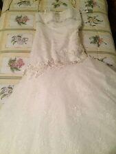 Oleg Cassini Bridal Wedding Dress NEW with tags sleeveless Ivory size 10 bride
