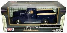 "1:24 Scale 1940 Ford Pickup Blue ""American Classics"" Diecast by Motor Max"