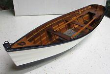 Large Big Wood ROW BOAT Skif Dory CANOE model rowboat skiff nautical decoration