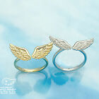 ANGEL WING RING Above Over Knuckle Ring Gold Silver MIDI Top of Finger Hippie