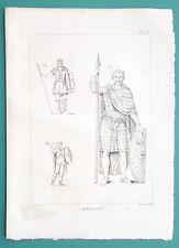 ROMAN ARMY Ranks Pretorian Armed Consul - 1804 Copperplate Print