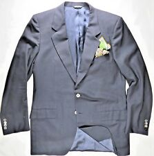 Ermenegildo Zegna Mens Blazer Jacket Navy 40 Made in Italy Tasmanian Super 100s
