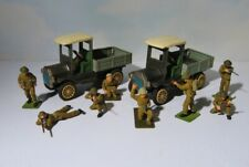 World War I  Army Tin Friction Trucks and Vintage Military Soldiers lot    BIN
