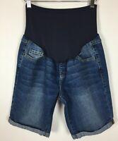 8a179fe4ca4a5 Old Navy Maternity Denim Shorts Size 6 Reg Stretch Rolled Cuff Blue Jean  Women's