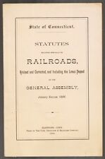 [30774] 1886 STATUTES TO RAILROADS STATE OF CONNECTICUT GENERAL ASSEMBLY REPORT