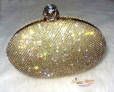 NUOVO design elegante scintillanti d'oro da sera cocktail Clutch Borsa per donna