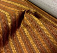LUXURIOUS BROWN STRIPE CHENILLE UPHOLSTERY FABRIC 8 METRES
