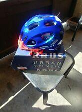 Cycling Helmet Abus Youn-I Ace Sparkling Blue Sz Medium 52-58cm Led light New