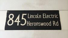 """London Hatfield Linen Bus Blind 1973 33""""- 845 Lincoln Electric Heronswood Road"""