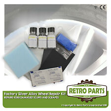 Silver Alloy Wheel Repair Kit for Mitsubishi. Kerb Damage Scuff Scrape