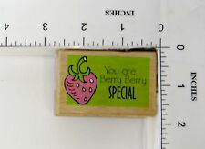 Wood Block Rubber Stamp: You Are Berry Berry Special