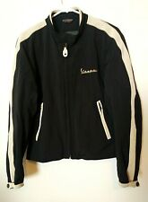 Vintage,Dainese Vespa Black with White Leather Motorscooter Jacket/Coat SZ 44