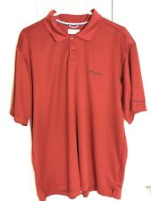 Columbia Omni Shade Red Polo Outdoors Active Sun Protection Men's Size Large