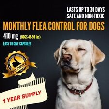 12 Monthly Capsules Flea Control 410mg Dogs 46-90 lbs FAST FREE SHIPPING